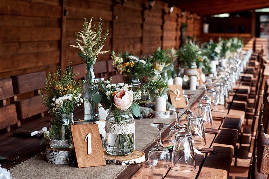Dekoration für die Hochzeit