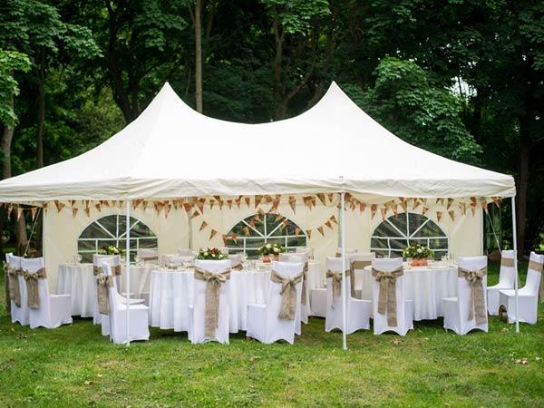 Zeltverleih Festzelt zur Hochzeit