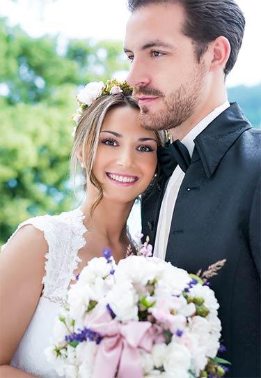 romantisches Brautpaar-Foto