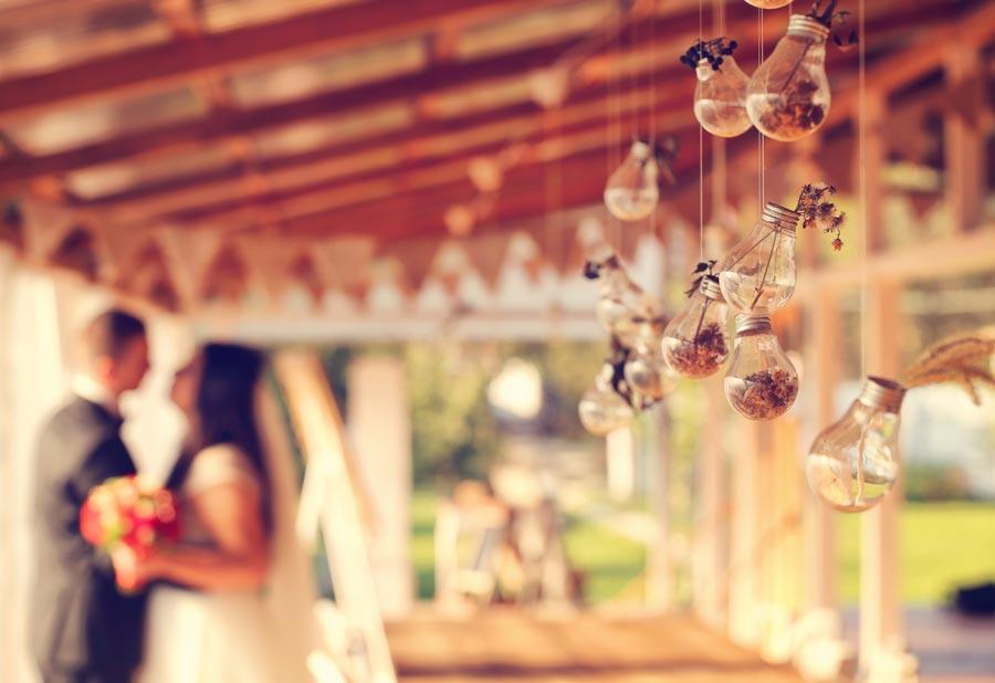 Hochzeitsdeko Glühbirnen